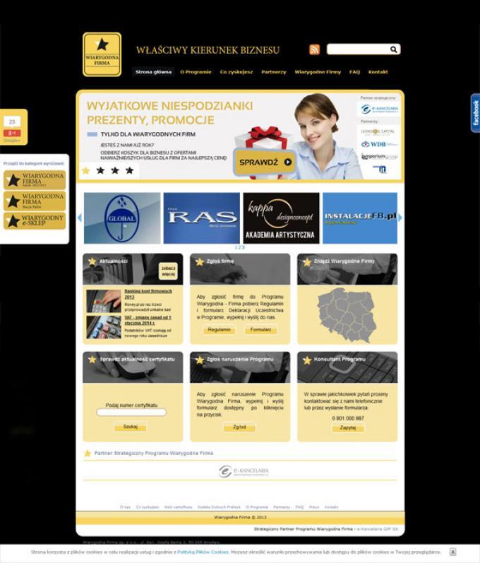 projekt strony www wiarygodna-firma.com